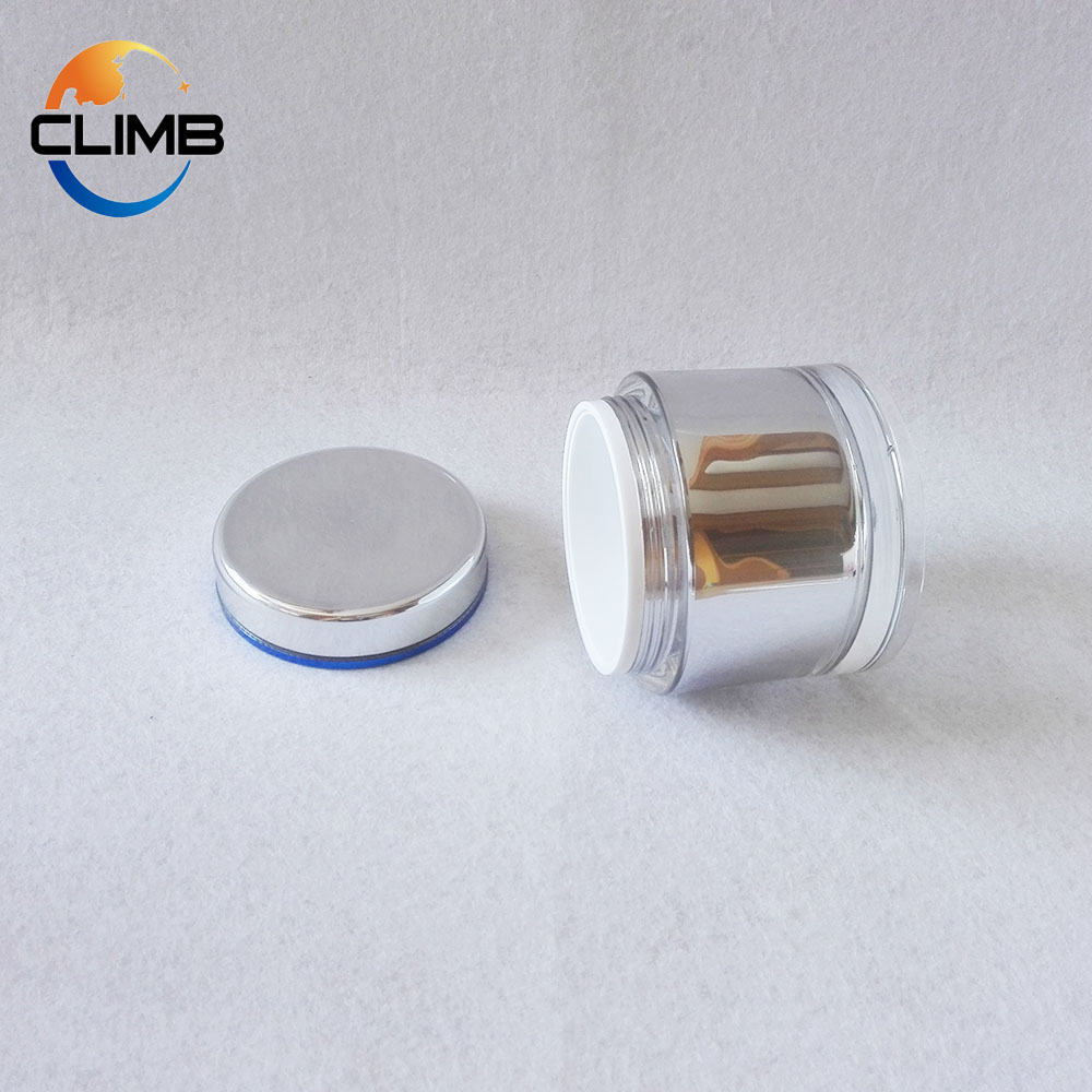 Free Sample 2017 Factory Sale Screw Cap Acrylic Jar for Cosmetic Gel Nail Honey Jar 100g 200g