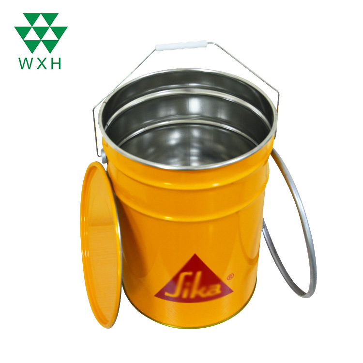 Wholesale Customized CMYK Printing 23L Empty Cylinder Metal Tin Cans