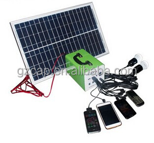 10watts 20watts 30 watts solar system for phone and dc lights , with usb and dc output ports