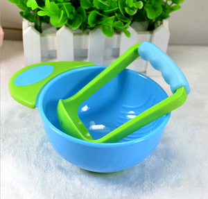 Baby Feeding Set, Non-skid Mash and Serve Bowl and Baby Feeding Fruit Pacifier Fresh Fruit Pacifier Food Feeder Mash Bowl LIKE N