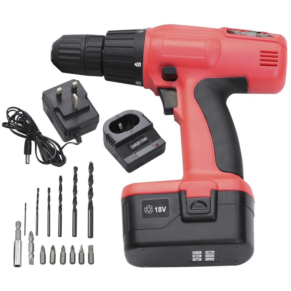 ZW-CD006 Powerful 12V 14.4V 18V Variable Speed Cordless Electric Drill , Wireless Portable Electric Drill