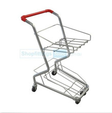 Galvanized Shopping Basket Trolleys Grocery Store/Supermarket Display