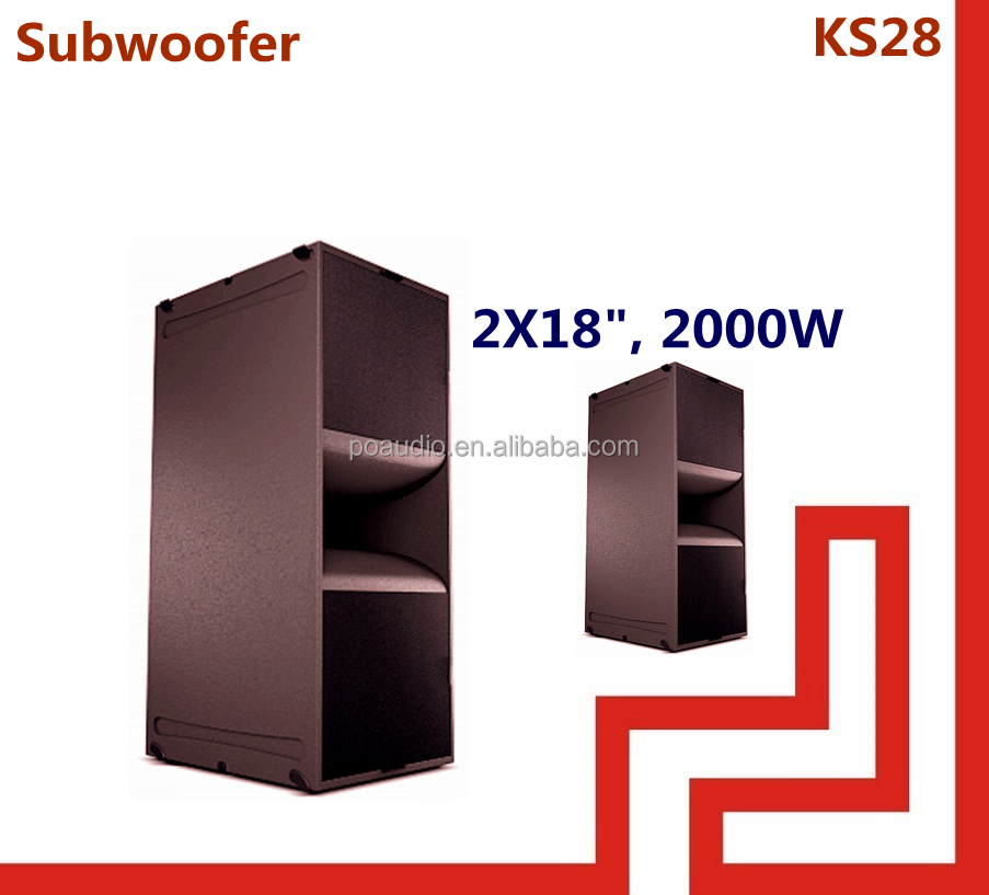 pro audio subwoofer speaker double 18 subwoofer inch spl