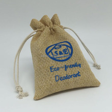 Factory Custom logo wholesale small jute bags drawstring for jewelry storage