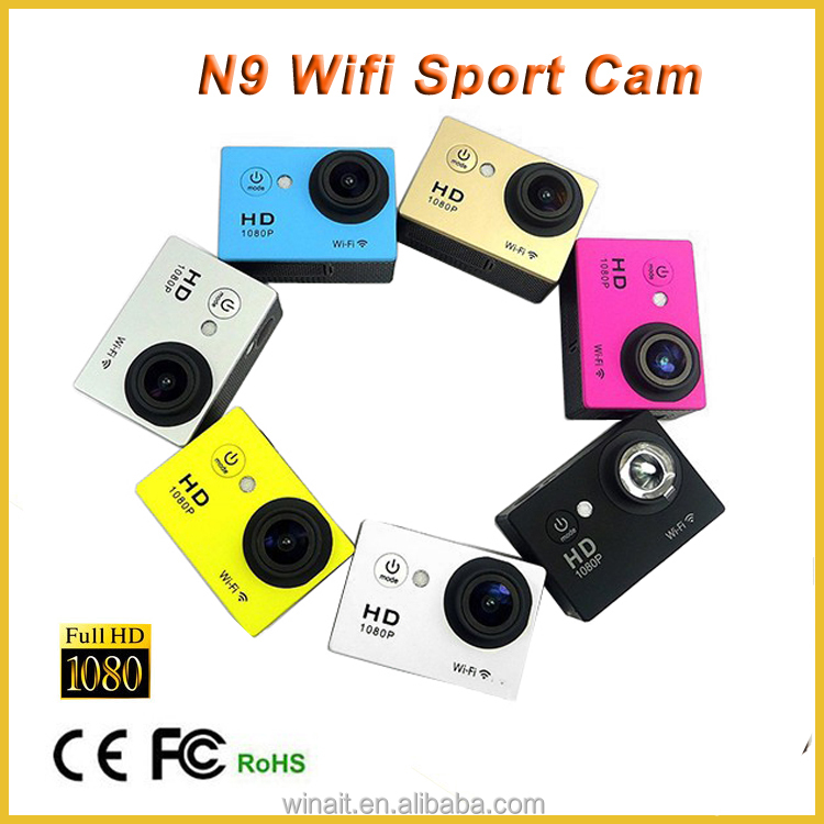 2016 Factory Price Promotion Cam Sport WIFI HD 1080p Action Video Camera Waterproof N9 wifi Sport Camera