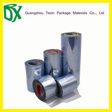 TEXIN Supplier soft heat shrink PVC english blue film in rolls for packaging