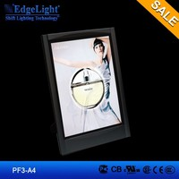 Edgelight PF3 ABS plastic material frame advertising light box for display