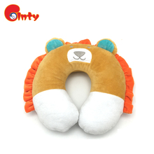 High quality U-shape traveling baby lion neck pillow