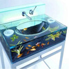 Cubic large desktop fashion design acrylic fish tank aquariums