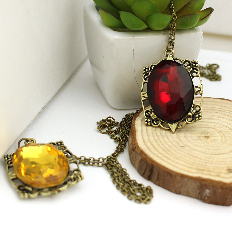 2014 Fashion Vintage <strong>Crystal</strong> The Vampire Diaries Bonnie Necklace For Woman