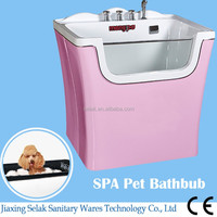 pink New design good quality dog tub,popularity size dog grooming bathtub