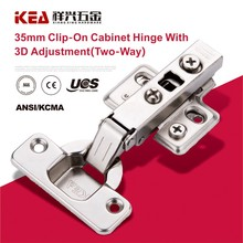 [B20] 35mm Cup Hydraulic Buffering Cabinet Hinge 3D Adjustable Furniture Hinge