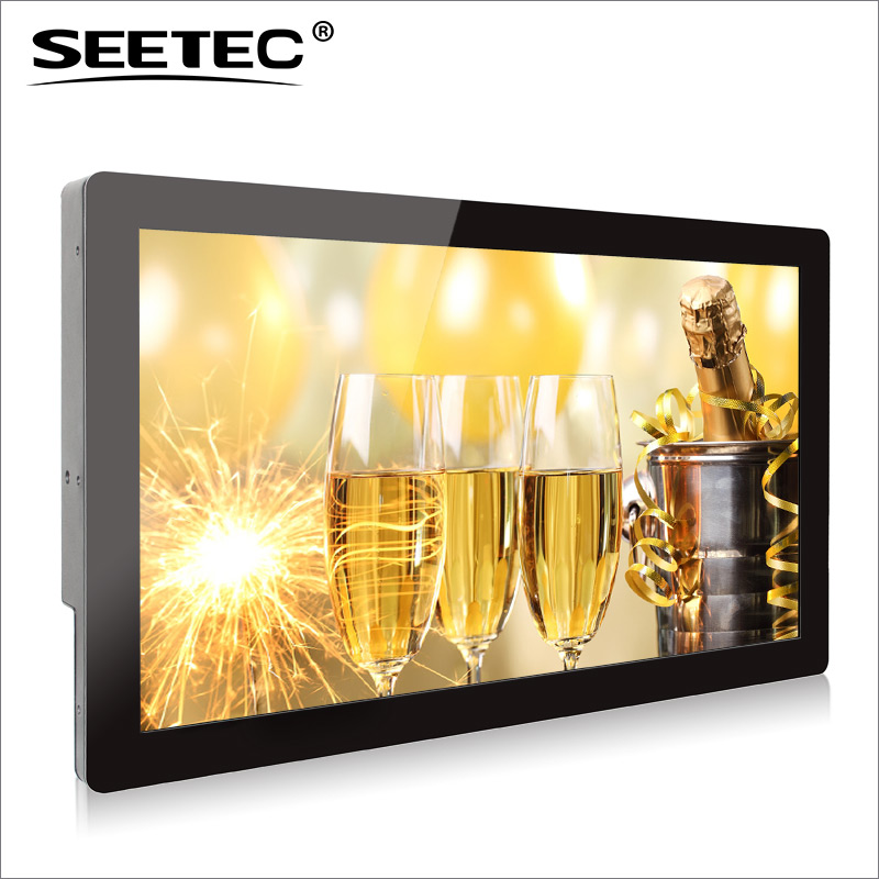 SEETEC 21.5 inch lcd supermarket advertising display video stand with HDMI capacitive touch