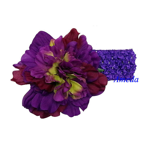 "Baby Girls Purple 4.5"" Camellias Headband Hair Accessories"