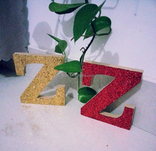 Ads good quality glitter letters for wedding party MDF decoration