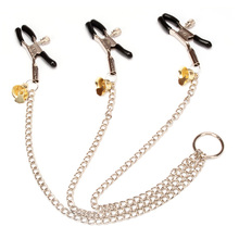 3 head Chain Nipple Clamps Clit Clips For Women Masturbation