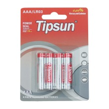 4PCS/blister pack 1.5V Tipsun AAA LR03 AM-4 alkaline dry battery