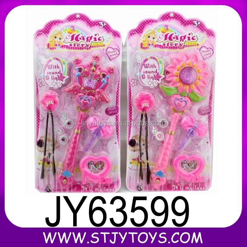 Magic plastic light up toy flashing stick set toy for girl