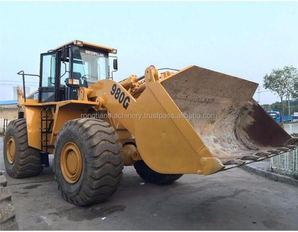 Good quality used cat wheel loader 980G for sale/ cat loader with low price