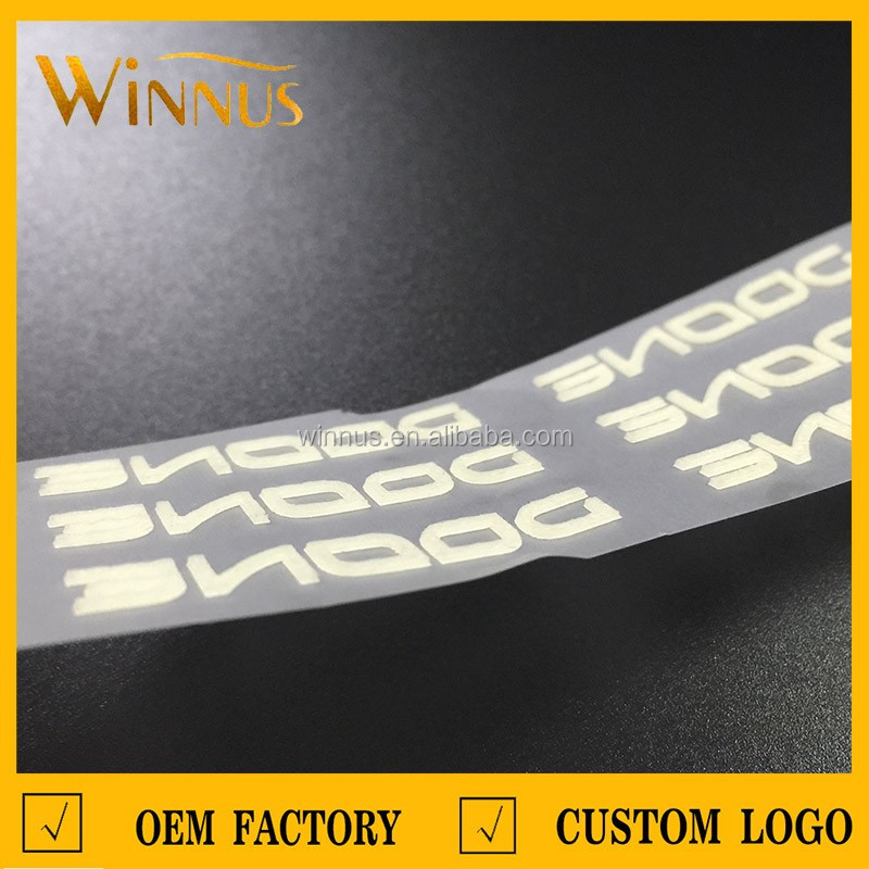 Sportswear t shirt shoes bags garment 3d logo tagless for Heat transfer labels for t shirts