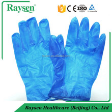 medical and food disposable vinyl glove and cream color examination vinyl glove/synthetic latex glove with FDA&CE