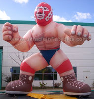 Commercial inflatable balloons,inflatable muscle man for boxing ring C3006