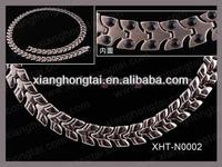 2013 cheap wholesale titanium magnetic necklace and bracelets set health and fashion jewelry
