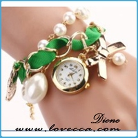 fashion design watch girl like bracelets , oem custom logo leather watch