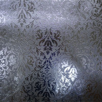 Leaf wall paper design home decor 3d wallpapers silver metallic wallpaper