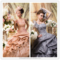 BB-0043 Luxuriant Frill High Quality Colorful Wedding Dress