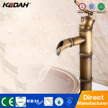Hotel bamboo shaped single handle brass bathroom antique pvc taps