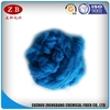 100% recycled poliester fiber polyester staple fiber royal blue