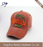 Hot sell custom 5 panel washed sports cap 100% cotton with embroidery and velcro closure
