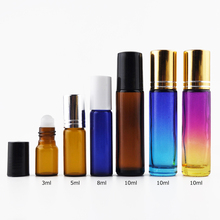 3ml 5ml 10ml Glass roll on bottle with glass ball