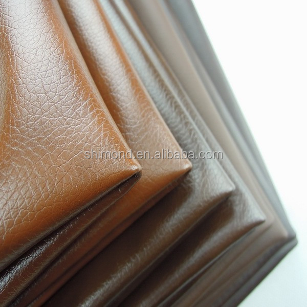 Gradation Style Dark Brown Embossed 100% PU Car Leather PU Sofa Leather