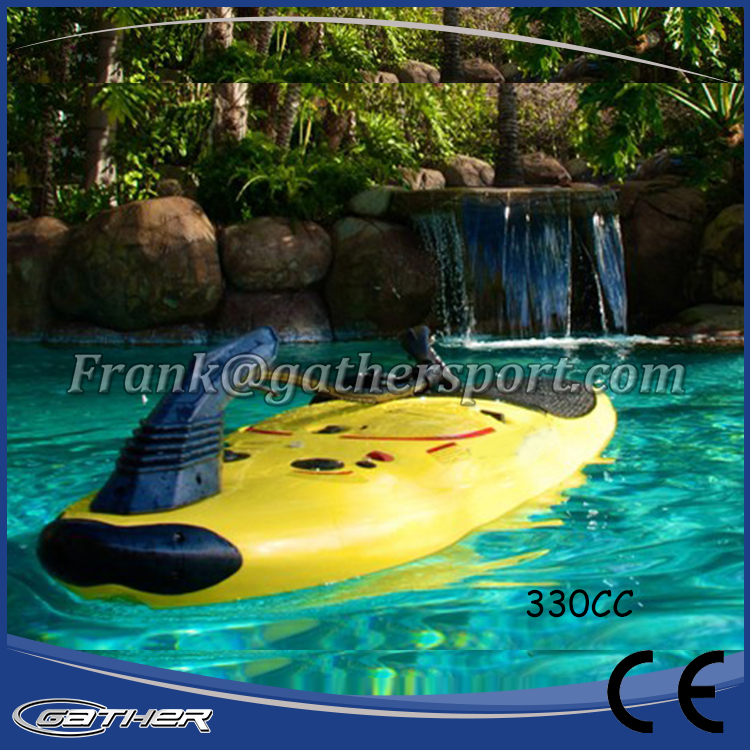 Gather new designed yellow color surf board, jet surf board, power surf board