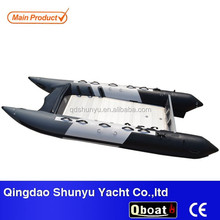 CE Aluminum floor 1.5mm pvc inflatable Catamaran for sale