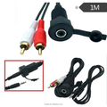 USB And 2 RCA to USB and 3.5mm Female Flush Mount For Car Cable