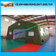 Outdoor Inflatable Army/Military Tent, 16m Camouflage Inflatable Marquee For Camping