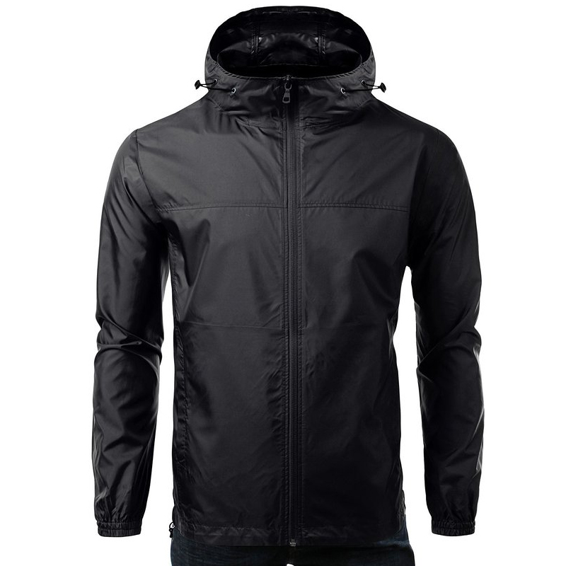 New design men windbreaker jacket with hood