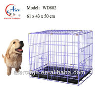 folding iron wire medium dog crate