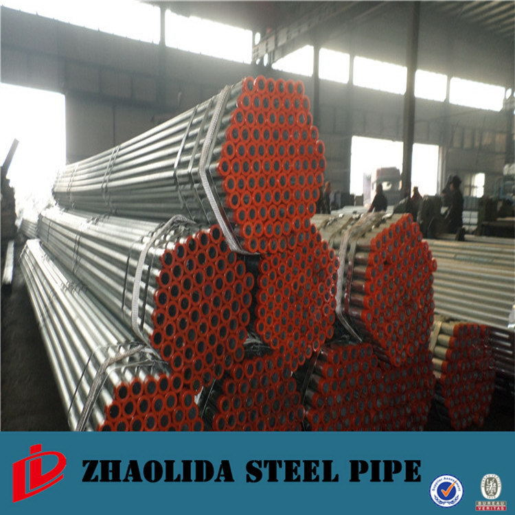Large Diameter cold drawn 3/4 galvanized welded steel water pipes