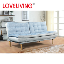 2017 Loveliving New Design Fabric Sofa Cum Bed