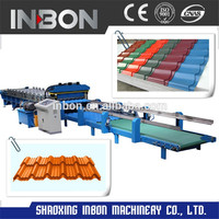 High Quality European designed Roof Tile Roll Forming Machine,glazed tile roll forming machine/tile rollformer/rollforming line