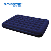 Navy Blue Flocked Air Mattress Blow Up Raised Bed Inflatable Single Twin Queen Size Air Bed