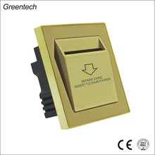 Hotel Power Switch, Stainless Steel Panel, Insert Card For Power Switch
