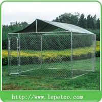 low price high quality heavy duty steel frame with roof dog run fence
