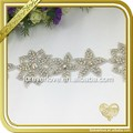Flower crystal strass hotfix rhinestone banding trim applique wholesale FRA-090