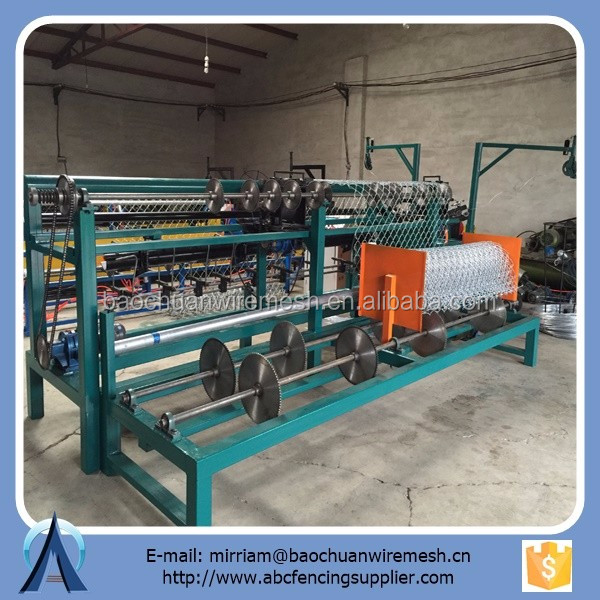 2 worms fully automatic chain link machine with compact roll