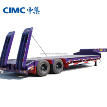 CIMC tri-axle truck dimensions flatbed trailer with containers lock for sale